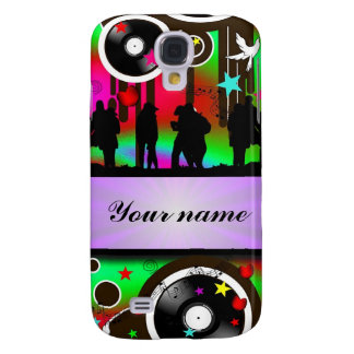 Colorful party people dancing galaxy s4 case