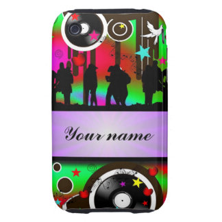 Colorful party people dancing iPhone 3 tough cover