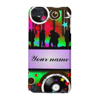 Colorful party people dancing iPod touch 5G cases