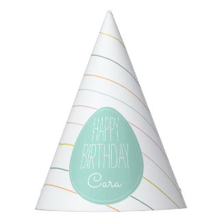 Colorful Party Stripes Party Hat