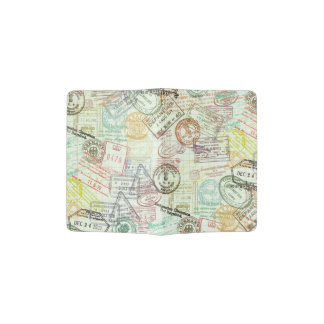 Colorful Passport Stamps Passport Holder