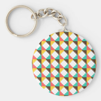 Colorful Pastel Aztec Native American Pattern Gift Key Chains