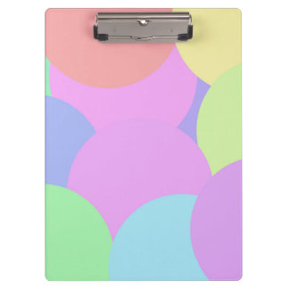 Colorful pastel circles clipboard