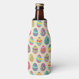 Colorful Pastel Easter Eggs Cute Pattern Bottle Cooler