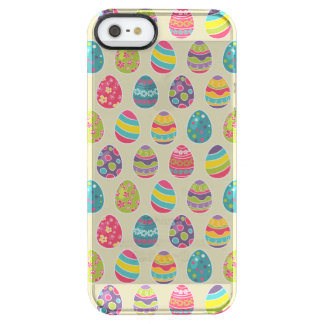 Colorful Pastel Easter Eggs Cute Pattern Clear iPhone SE/5/5s Case