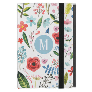 Colorful Pastel Flowers Illustration iPad Mini Cover