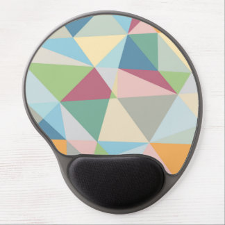 Colorful Pastel Geometric Modern Pattern Gel Mouse Mat