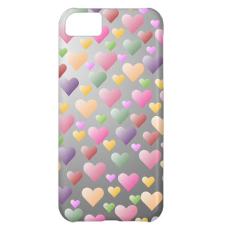 Colorful Pastel Hearts Pattern iPhone5 Case