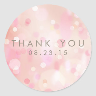 Colorful Pastel Lights Bokeh Custom Sticker II