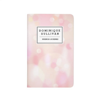 Colorful Pastel Lights Bokeh Personalized Journal