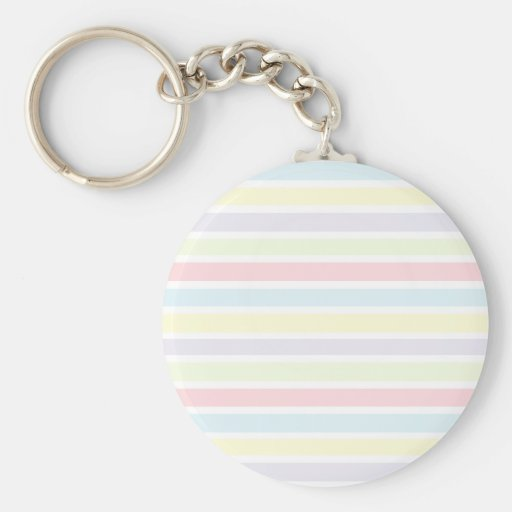 Colorful Pastel Lines Keychains