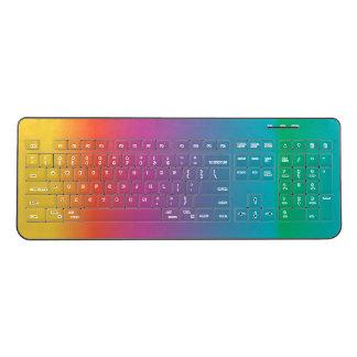 Colorful Pastel Rainbow Wireless Keyboard