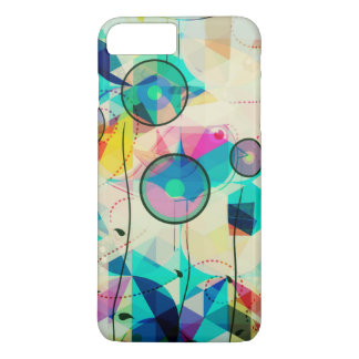 Colorful Pastels Abstract Geometric Digital Art iPhone 7 Plus Case