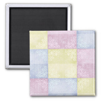 Colorful Pastels Patchwork Magnet