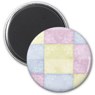 Colorful Pastels Patchwork Magnets