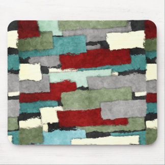 Colorful Patches Abstract Mouse Pad