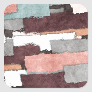 Colorful Patches Abstract Square Sticker
