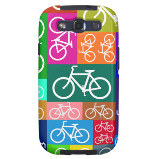 Colorful Patchwork Bicycle Art Galaxy SIII Covers