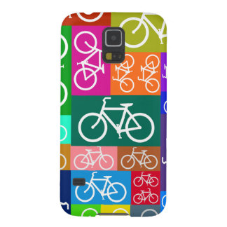 Colorful Patchwork Bicycle Art Galaxy S5 Case