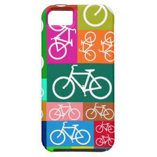 Colorful Patchwork Bicycle Art iPhone 5 Cases