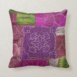 Colorful Patchwork Design Throw Pillow