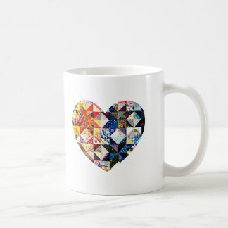 Colorful Patchwork Quilt Heart Coffee Mug