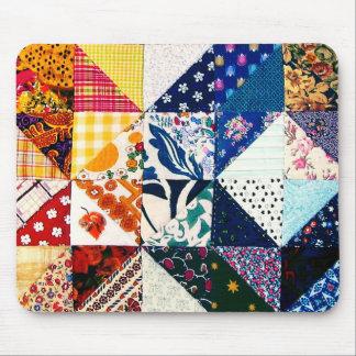 Colorful Patchwork Quilt Mouse Mat