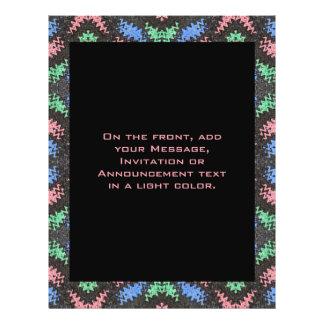colorful pattern 21.5 cm x 28 cm flyer