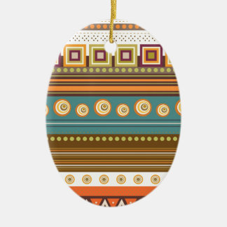 colorful pattern ceramic oval decoration