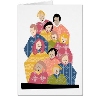 Colorful Pattern Choir Card