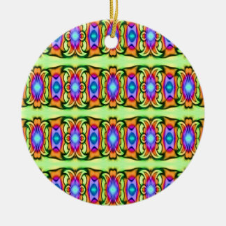 colorful pattern christmas ornament