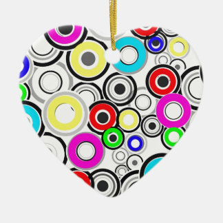 Colorful Pattern Circles Christmas Ornament