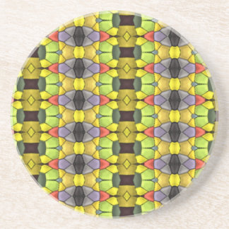Colorful pattern coaster
