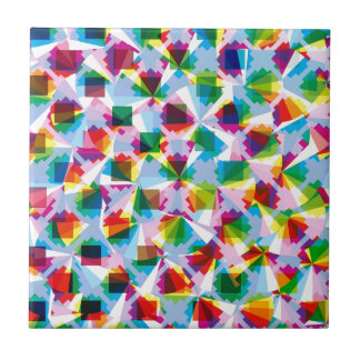 "Colorful Pattern Creation ""Fortuna"" Small Square Tile"