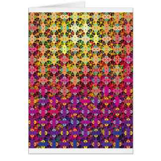 "Colorful Pattern Creation ""Perseus"" Greeting Card"