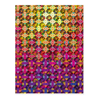 """Colorful Pattern Creation """"Perseus"""" Postcard"""