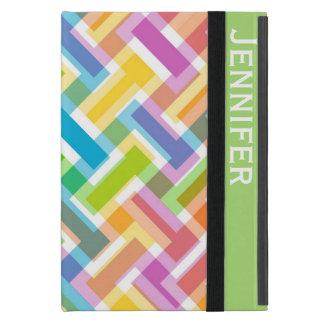 Colorful Pattern Custom iPad Mini Folio Style Case Case For iPad Mini