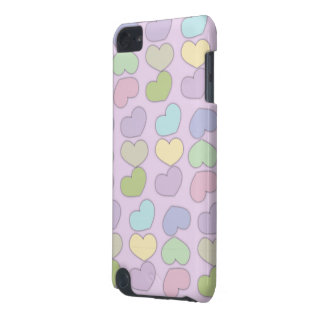 colorful pattern of hearts and purple background iPod touch 5G covers