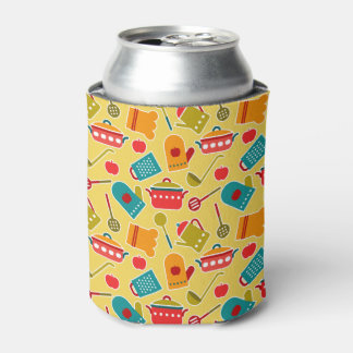 Colorful pattern of kitchen utensils can cooler