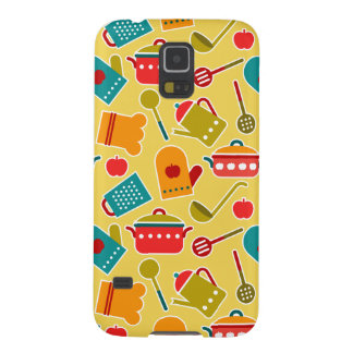 Colorful pattern of kitchen utensils galaxy s5 covers