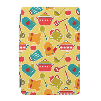 Colorful pattern of kitchen utensils iPad mini cover