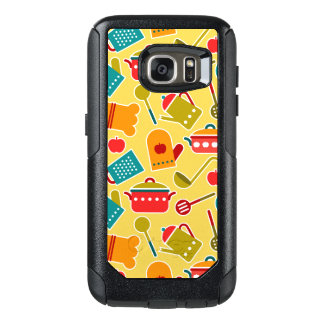 Colorful pattern of kitchen utensils OtterBox samsung galaxy s7 case