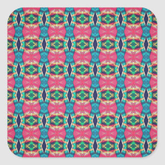 Colorful Pattern of Symmetry Square Sticker