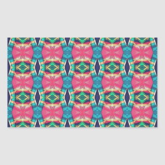 Colorful Pattern of Symmetry Rectangle Stickers
