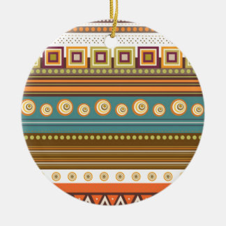 colorful pattern round ceramic decoration