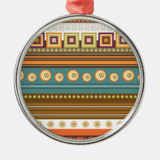 colorful pattern Silver-Colored round decoration