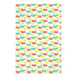 Colorful pattern stationery paper
