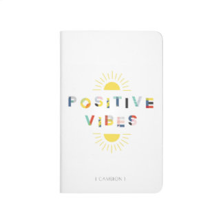 Colorful Pattern Typography Positive Vibes Modern Journal