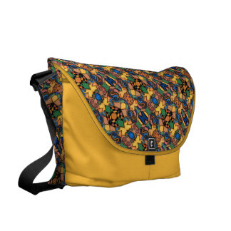 Colorful Pattern Yellow Courier Bag