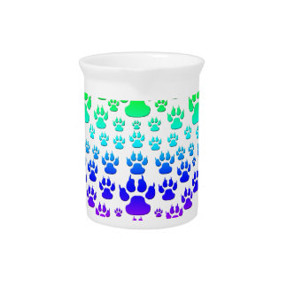 colorful paw heart pitcher